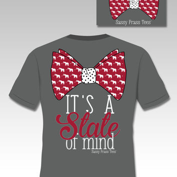 Sassy Frass Tees It's a State of Mind Bow Elephant Comfort Colors Southern Girlie Bright T Shirt