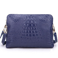 Mila Genuine Leather Crocodile Handbag