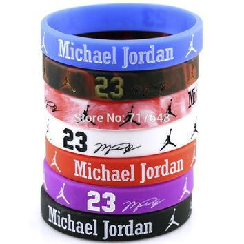 7pcs Jordan wristband silicone bracelets rubber cuff bangle