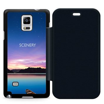 Beautiful Scenery Leather Wallet Flip Case Samsung Galaxy Note 4