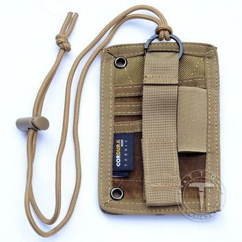Military ID Cards Pockets Vertical Military Military Pass Holder 3 Slots+1 Pen Pocket With Neck Lanyard Necklace Badge Holder
