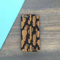 Genuine Wood Case  - Cactus Overload