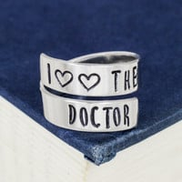 I Love the Dr. - Doctor Who - Adjustable Aluminum Wrap Ring