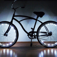 Bike LED Lights, Bicycle, Glow in the Dark, Light Up, Party, Rave, Tron