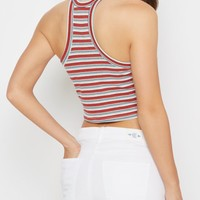 Mustard Striped Goddess Cropped Tank Top | Casual Tank Tops | rue21