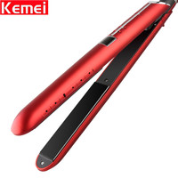 Hot Sales Stylish Red Hair Flat Straightening Irons with LCD Screen Display Beauty Hair Salon Tools Straighteners for Woman Girl