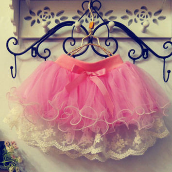 Girls Lace Tutu Ballerina Skirt