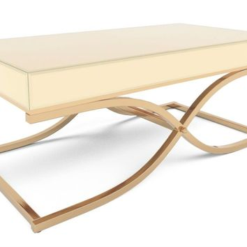 Loise Mirrored Coffee Table Champagne