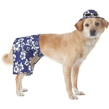 Petco Pup Crew Navy Hawaiian Dog Shorts