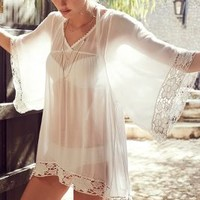 Offshore Caftan by Anthropologie White