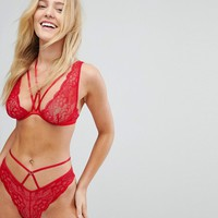 New Look Strappy Brazilian Brief at asos.com