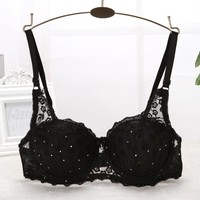 Bras For Women  Push Up  Padded Lace Sequins Brassiere
