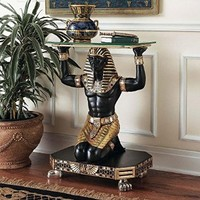 Design Toscano Servant to the Pharaoh Glass-Topped Cons