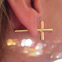 Cut Cross Earrings | A La Carte