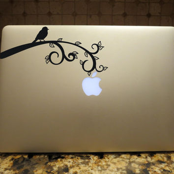 Bird on Branch Decal Custom Vinyl Computer Laptop Car auto vehicle window decal custom sticker Decal