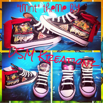 TMNT Custom Converse - Ninja Turtles, Masks Edition