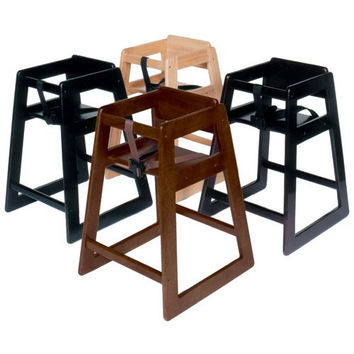 CSL Foodservice & Hospitality 803BL Deluxe Wood High Chair Black
