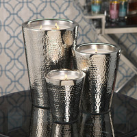 Hammered Aluminum Candle Jar