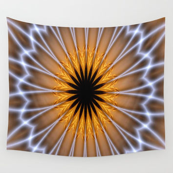Golden Brown with a Twist Wall Tapestry by Chris' Landscape Images & Designs