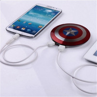 Captain America Shield Power Bank For iPhone5S 6S Plus iPad Air Samsung Galaxy S5 S6 Edge
