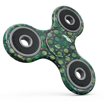 Green Watercolor Ring Pattern Full-Body Fidget Spinner Skin-Kit
