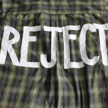 """5 Seconds of Summer 5SOS """"REJECT"""" Long Sleeve Flannel Mens M"""