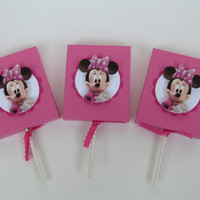 Minnie Mouse Lollipop Party Favor Cover-Candy Box-Treat Box-Minnie Mouse Girls Birthday Party Box-Minnie Mouse Classroom Favors – Set of 12