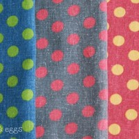 Vintage Polka Dots CottonLinen Fabric Available by applesandeggs