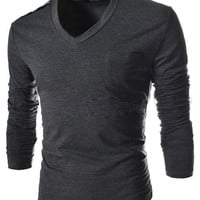 Men's V-Neck Casual Shirt