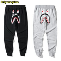 BAPE classic casual wild shark camouflage pocket cotton trousers sweatpants