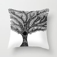 Tree Throw Pillow by Brenna Whitton