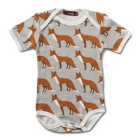 MILKBARN ONE PIECE SHORT SLEEVE Onesuit-ORANGE FOX