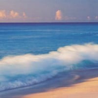 Beach Scene Breaking Wave Poster 12x36