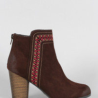 Durban Embroidered Booties