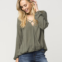 SOCIALITE Surplus Womens Top | Blouses
