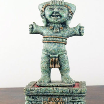 Tribal Art Vintage Statue Totonaca Culture Mexico
