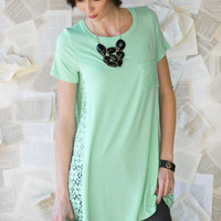 Floral Lace Panel Tunic