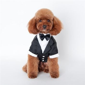 JORMEL New Pet Dog Puppy Cat Tuxedo Bow Tie Wedding Suit Costumes Coat S-XXL Pet Spring And Summer Dog Clothes