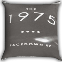 the 1975 band album facedown EP Zippered Pillows  Covers 16x16, 18x18, 20x20 Inches