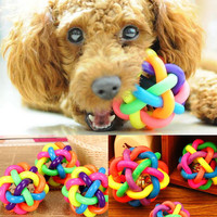 Puppy Pet Dog Cat Dental Teething Healthy Teeth Chew Training Play Ball Toy Gift
