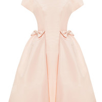 Blush Bow Pocket Party Dress by Katie Ermilio - Moda Operandi