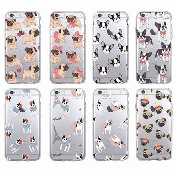 Adorable Pug and French Bulldog Phone Case For iPhone and Samsung Phones