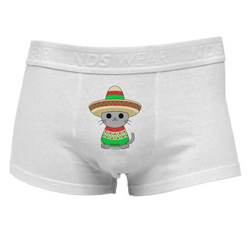 Cat with Sombrero and Poncho Mens Cotton Trunk Underwear by TooLoud