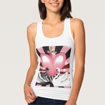 heart and swans tank top