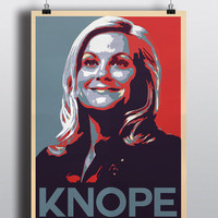 Parks and Recreation inspired 'HOPE' print - KNOPE print - Leslie Knope homewall decor art