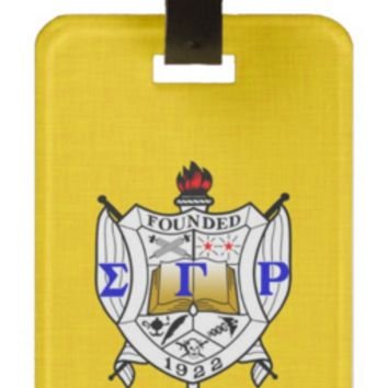 Sigma Gamma Rho Sorority Personalized Luggage Tag or Briefcase Tag