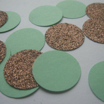 Copper and Mint Wedding Confetti Celebration Confetti Party Confetti ...