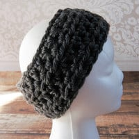 Charcoal Grey Gray Ear Warmer Headband Head Warmer Teen Women's Accessories