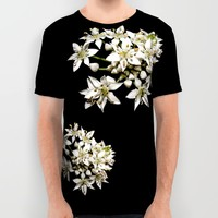 White Flowers All Over Print Shirt by Stephen Linhart