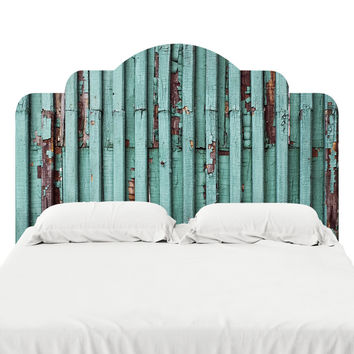 Distressed Turquoise Headboard Decal
